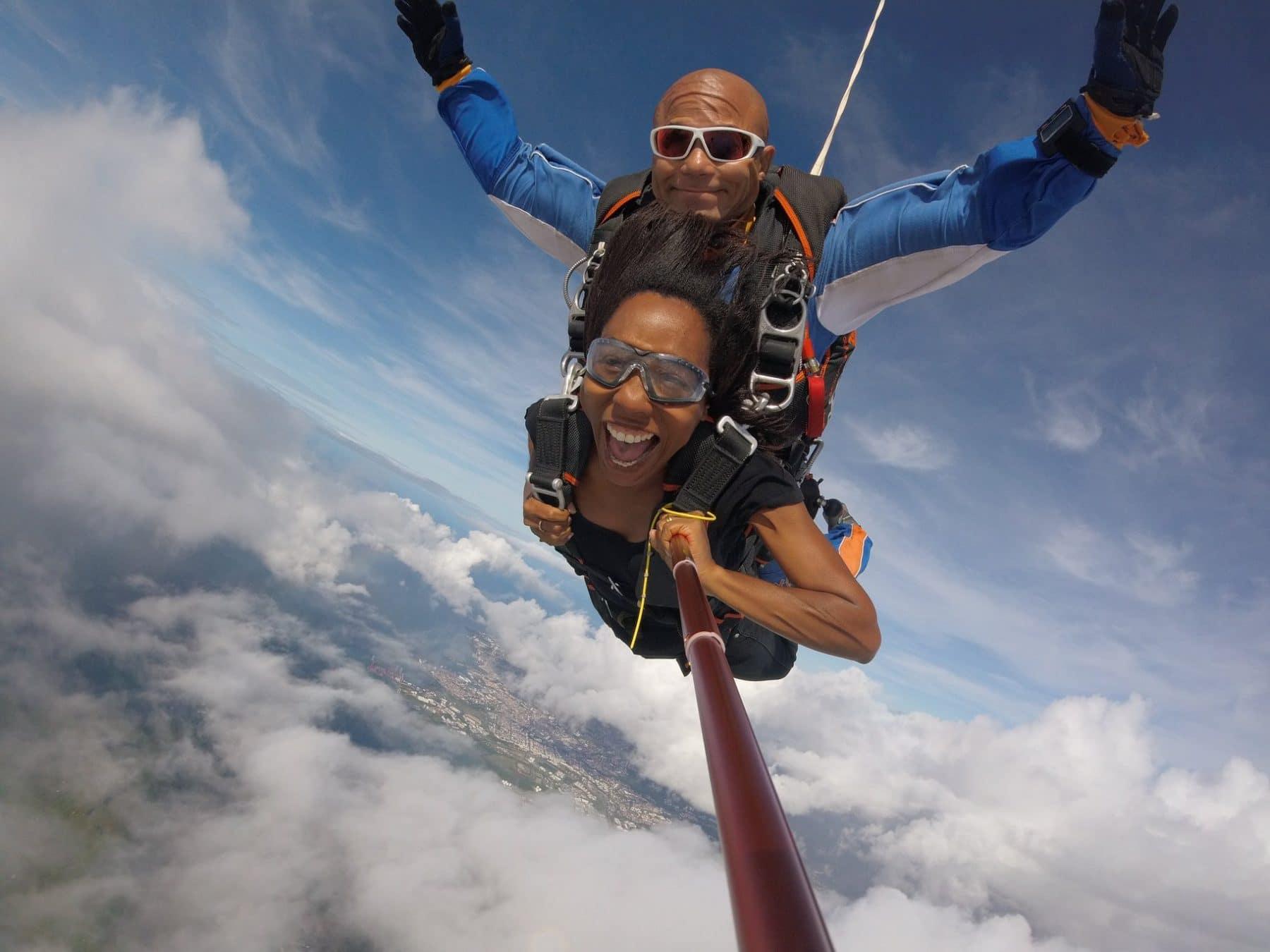 Saut en parachute tandem Vidéo