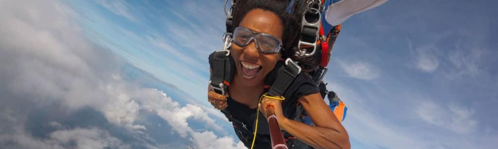Le saut en parachute en Martinique